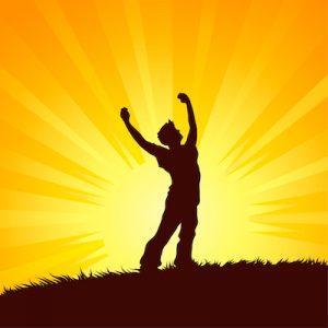 勝利と成功のイメージ