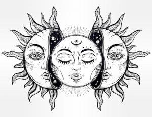 サインフェイスのタトゥーデザイン