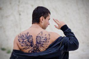 翼(羽根)のタトゥーデザイン