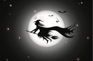 夜空をかける魔女のイラスト(サムネ)