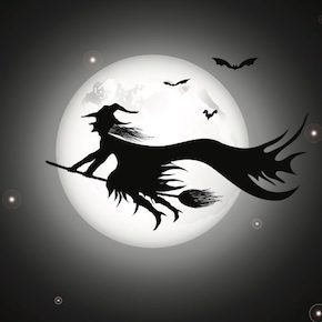 夜空をかける魔女