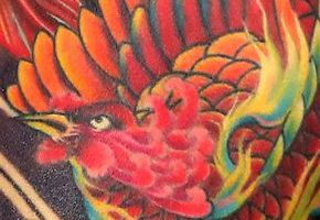 朱雀(フェニックス)のタトゥー