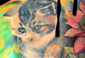 猫のタトゥーデザイン