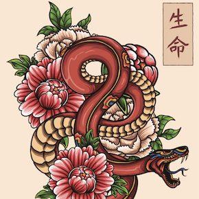 蛇のタトゥーデザイン