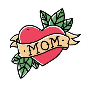 お母さんへの愛を意味するタトゥーデザイン