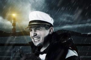 嵐に遭遇する水夫