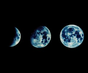 月の満ち欠けと成長のイメージ