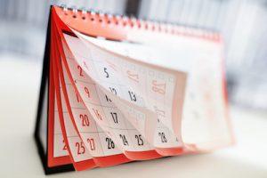 スケジュール確認用のカレンダー