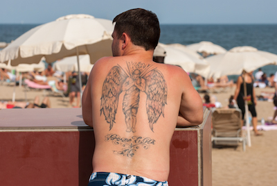 天使(エンジェル)のタトゥー