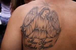 天使のタトゥー(肩)