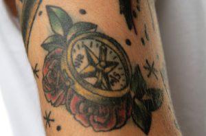 方位磁針(羅針盤)のタトゥー