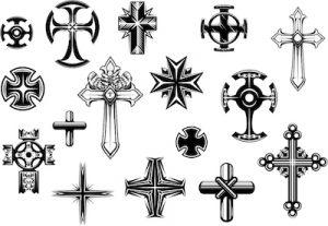 十字架のタトゥーデザイン集