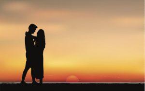 永遠の絆を確かめる男女