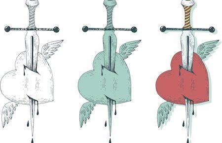 剣のタトゥーデザイン