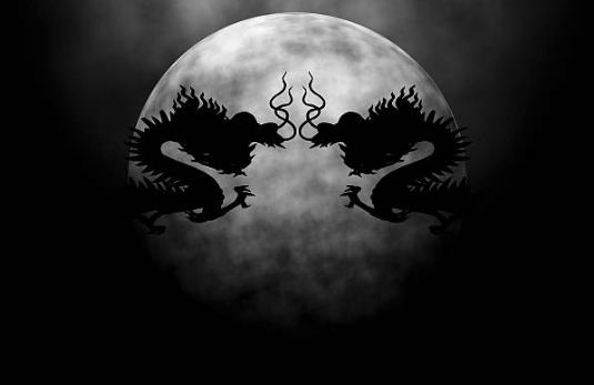 神秘的な龍