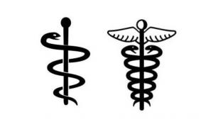 アスクレピオスの杖とケーリュケイオン