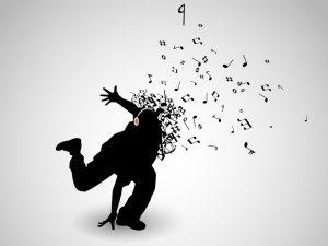 ダンスする男性