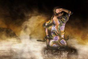 ヘビの霊的なイメージ