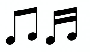 屋根つきの音符