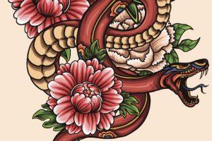 ヘビのタトゥーデザイン