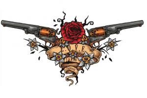 銃のタトゥーデザイン