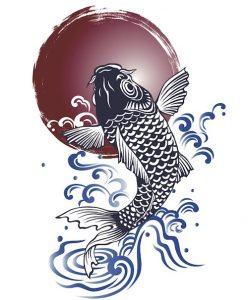 鯉(コイ)のタトゥーの意味とは?赤・金など色の違いも解説!