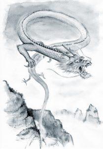 滝を登る鯉(登竜門)