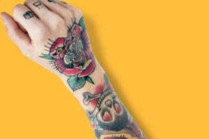 オールドスクールタトゥー(腕)