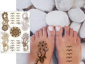 フラッシュタトゥー(足の甲)